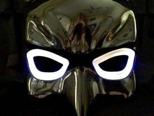 superhéroe the avengers costume led light eye mask (bat m