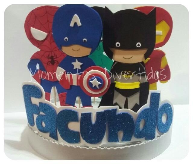4920ee8f3 superheroes avengers adorno para torta infantil en goma eva