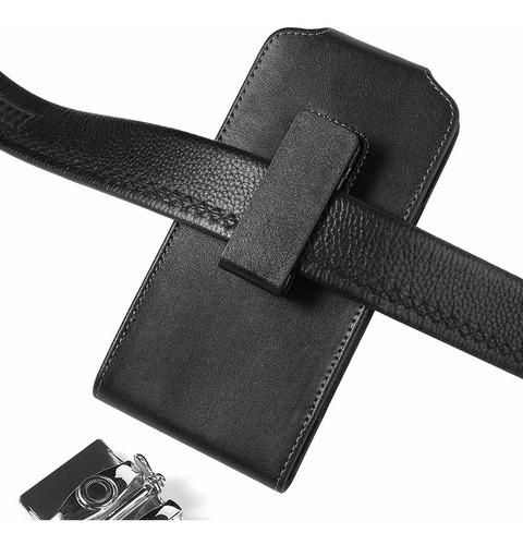 superior de pu de cuero vertical giratorio para cinturón cl