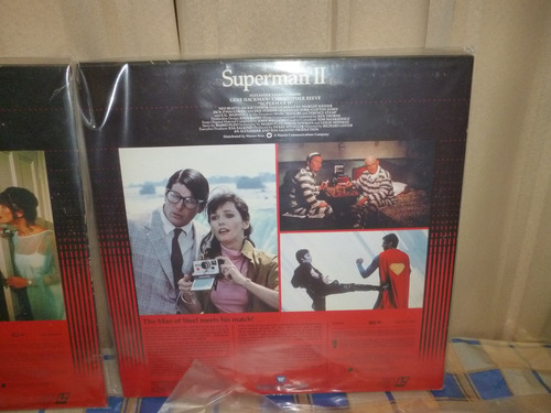 superman 1 2 3 4, 7 laserdisc, 4 títulos