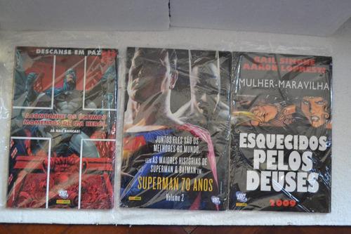 superman- álbum de família e a fúria dos mares e arq. verde.