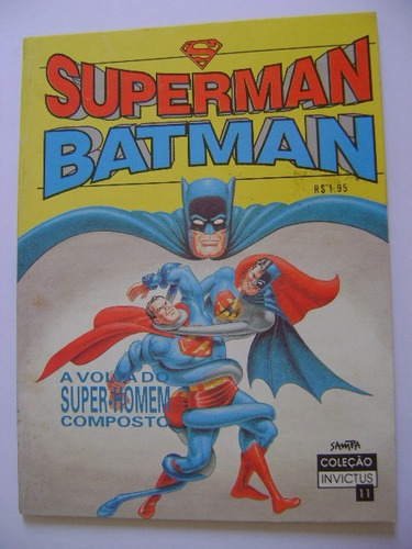 superman & batman coleção invictus nº 11 ano 1994 nova sampa