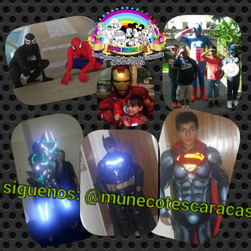 superman batman iroman avengers spiderman show fiestas