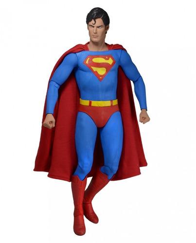 superman christopher reeves esc.1/4 45 cm neca comics novo