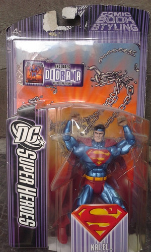 superman dc superheroes kal-el con diorama mattel 2007