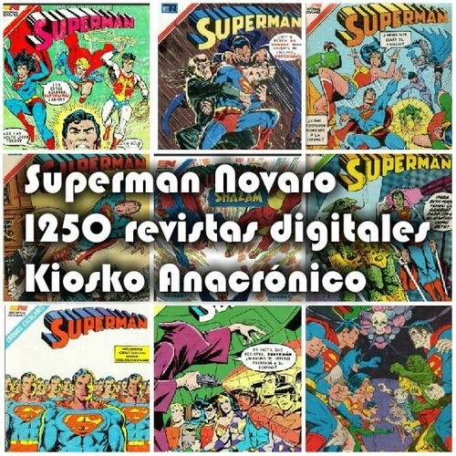superman  editorial  novaro 1250 revistas antiguas.