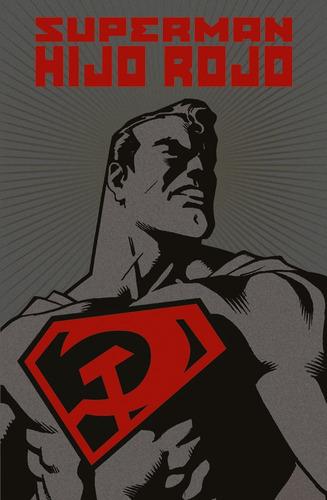 superman hijo rojo deluxe - dc ecc comics - robot negro