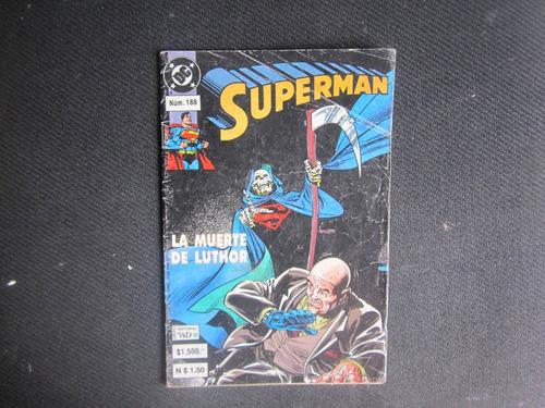 superman, la muerte de luthor, dc cómic núm. 188