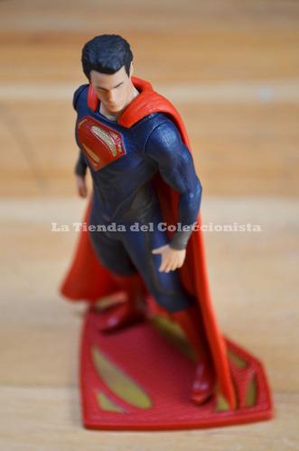 superman man of steel figura de colección dc comics