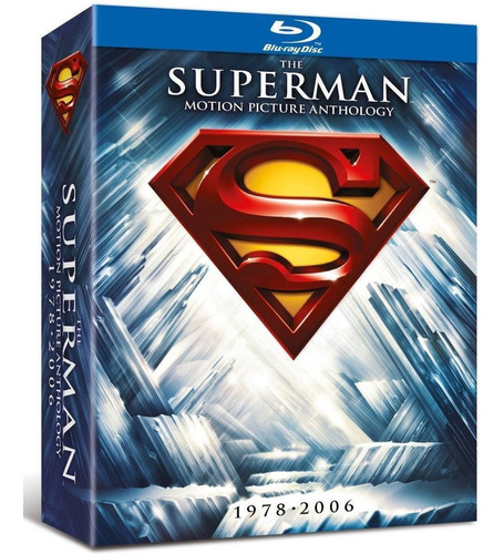 superman motion picture anthology 1978 - 2006 blu-ray