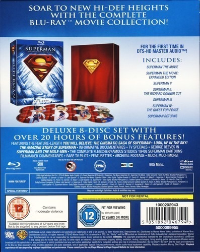 superman motion picture anthology 1978 - 2006 en blu-ray
