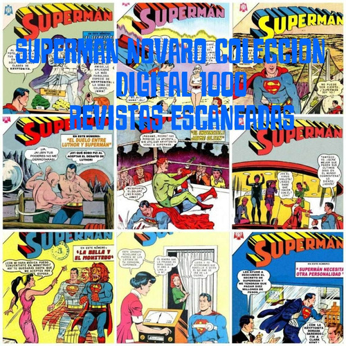 superman novaro comic digital mas de 500 ejemplares