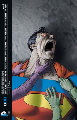 superman ruina 1-3 (completo) - dc ecc comics - robot negro