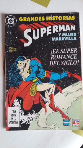 superman y mujer maravilla -  jhon byrne y george perez