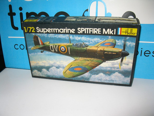 supermarine spitfire mki sin cabina escala 1/72 heller