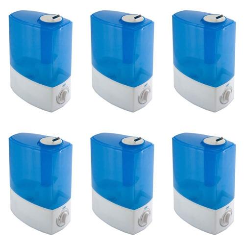 supermedy aparelho umidificador ultrassônico 2 l (kit c/06)
