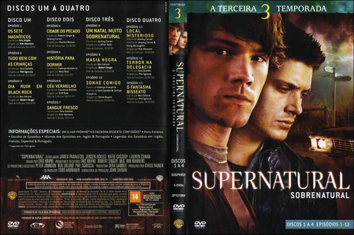 supernatural 3ª temporada completa original