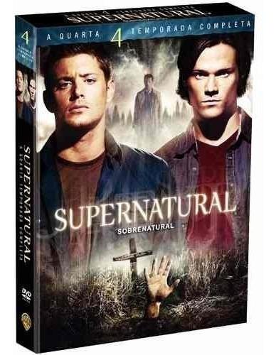 supernatural 4° temporada box + balde de pipoca de brinde