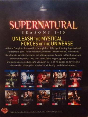 supernatural box set completo. temporadas 1 a 10 importado