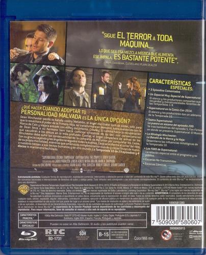 supernatural decima temporada 10 diez  blu-ray