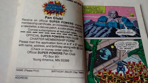 superpowers - minicomic parademon - kenner