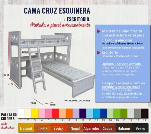 superpuesta esquinera cruz + escritorio - espacios reducidos
