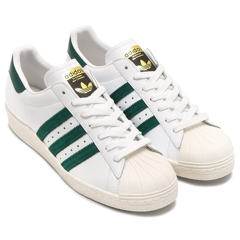 Adidas Superstar 80s green Blanco Bb2230
