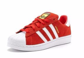 7942224ed32 Tenis Adidas Superstar Vermelho Camurça - Tênis no Mercado Livre Brasil