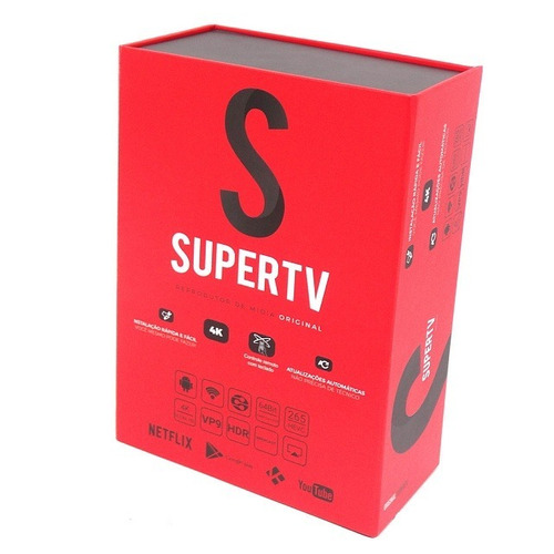 supertv (red) original  -  smart tv  -  4k  -  box supertv