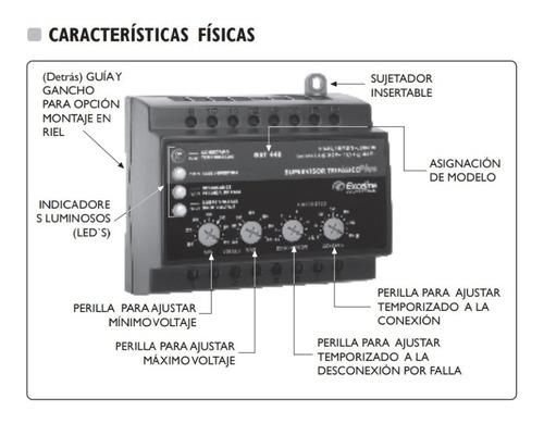 supervisor trifásico plus 220v sistema electrico exceline
