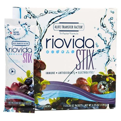 suplemento antioxidante 4life riovida stix con 15 sob 8g