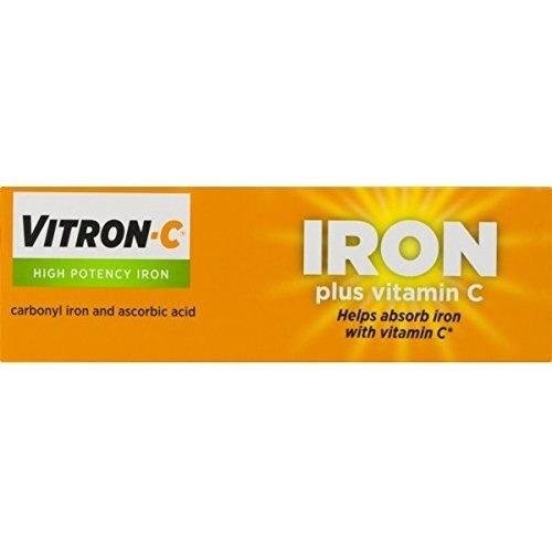 suplemento de hierro de alta potencia vitron-c con vitamina