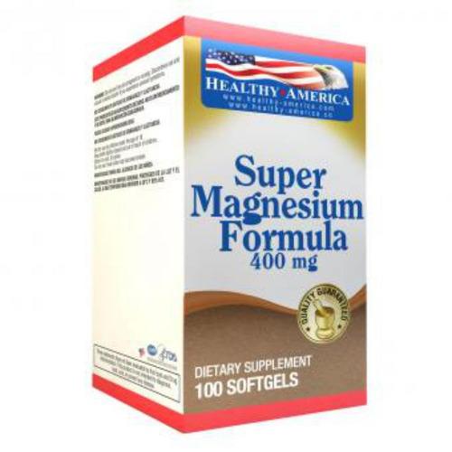 suplemento dietario super magnesium formula de 100 cápsulas