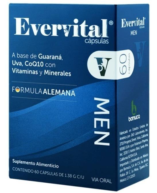 Suplemento Evervital Men Caps 1 60 Pz Formula Alemana