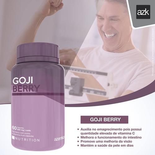 suplemento goji berry azenka cromo vitamina a 60 cap. 500mg