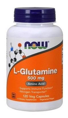 suplemento l-glutamina now 500mg (120 comprimidos) sports