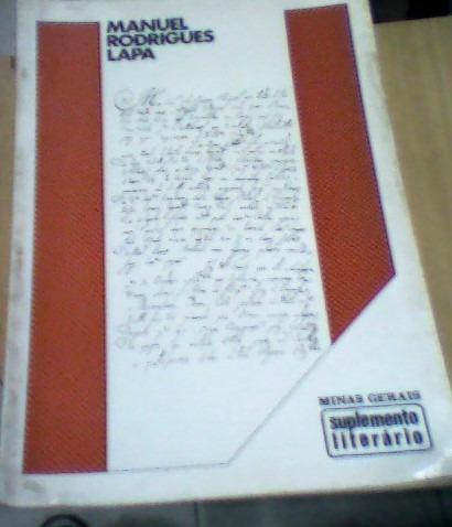 suplemento literário minas gerais- manuel rodrigues lapa