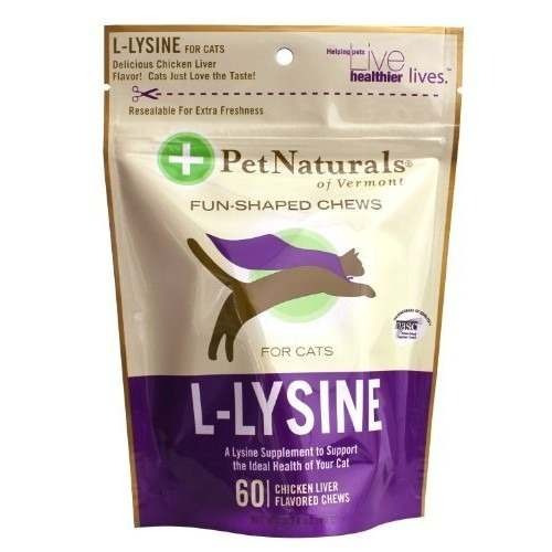suplemento para gato pet naturals de vermont l-lisina 60 fu