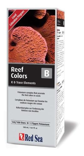 suplemento red sea coral colors b 500ml realça cor vermelha