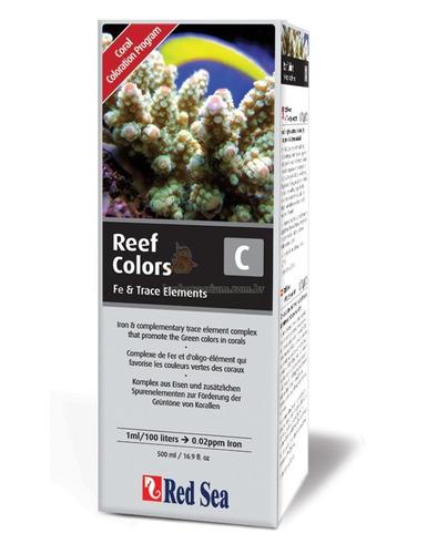 suplemento red sea reef colors c 500ml realça verde/amarelo
