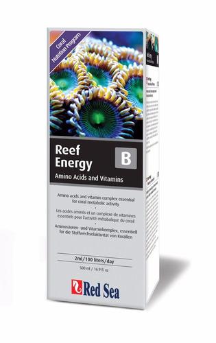 suplemento red sea reef energy b aminoácidos vitaminas 500ml