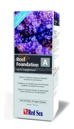 suplemento red sea reef foundation a (ca/sr) 500ml calcio