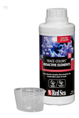 suplemento red sea trace colors d 500ml corais azul e roxos
