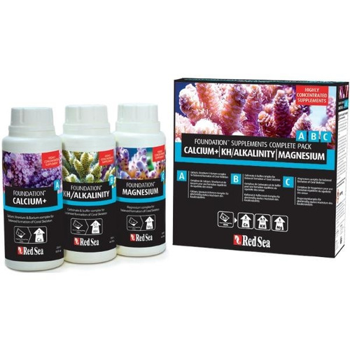 suplemento reef foundation a b c 3x 250ml calcio/kh/magnesio