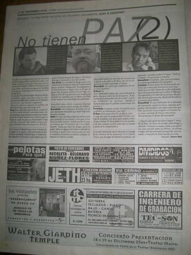 suplemento si- alanis morisette/los redondos/ kurt & coutney