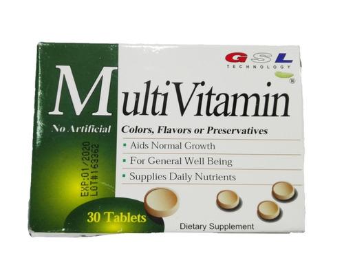 suplemento vitaminico 30tab gsl technology vitaminas adultos