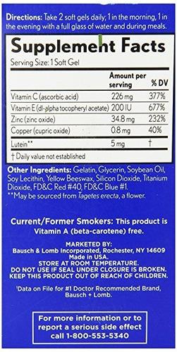 suplemento vitaminico preservision areds lutein 120 capsulas