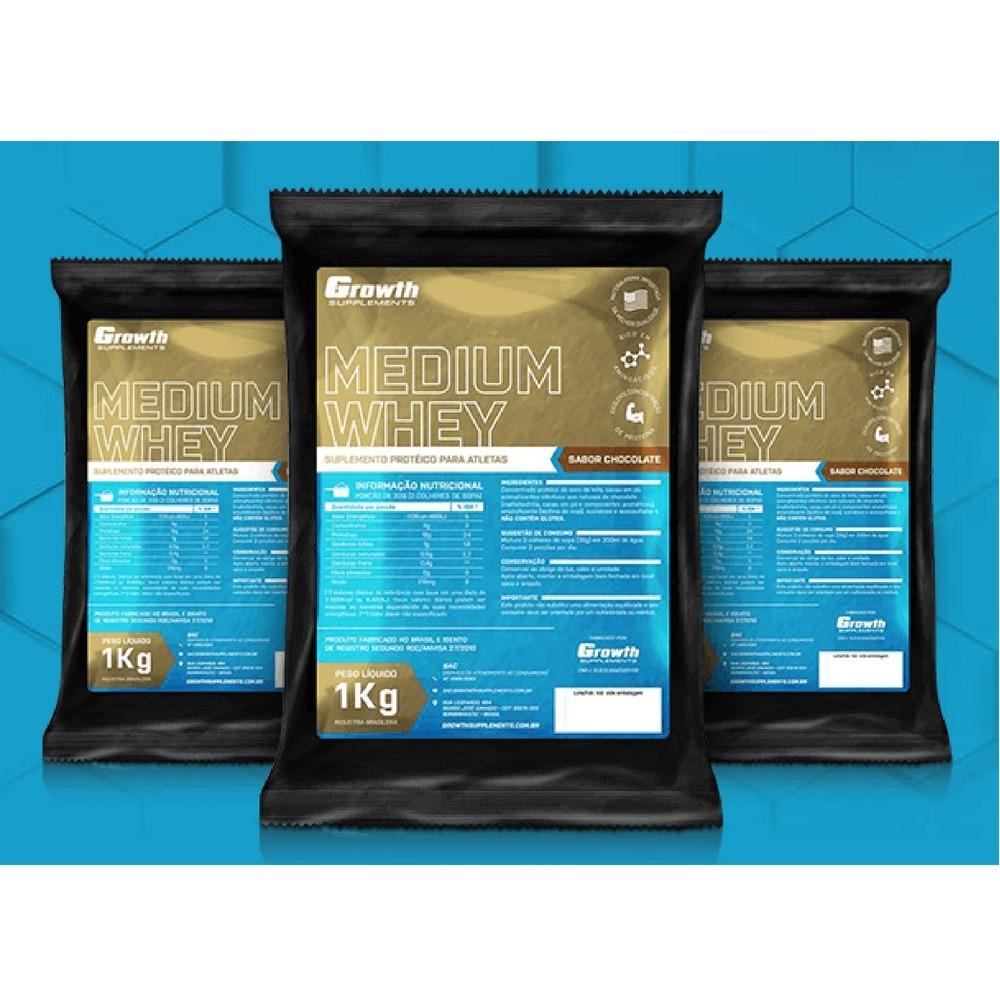 f6865b867 Suplemento Medium Whey Protein 1kg - Growth - R  110