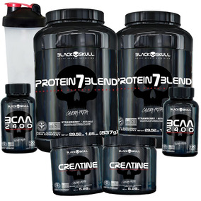 688c1fe54 Whey Proteina Isolada 2k Sabor - Massa Muscular Black Skull no Mercado  Livre Brasil