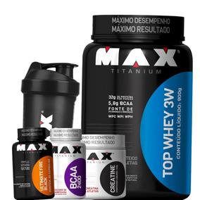 21c32d38f Max Titanium Top 3w Combo - Whey Protein para Massa Muscular no Mercado  Livre Brasil